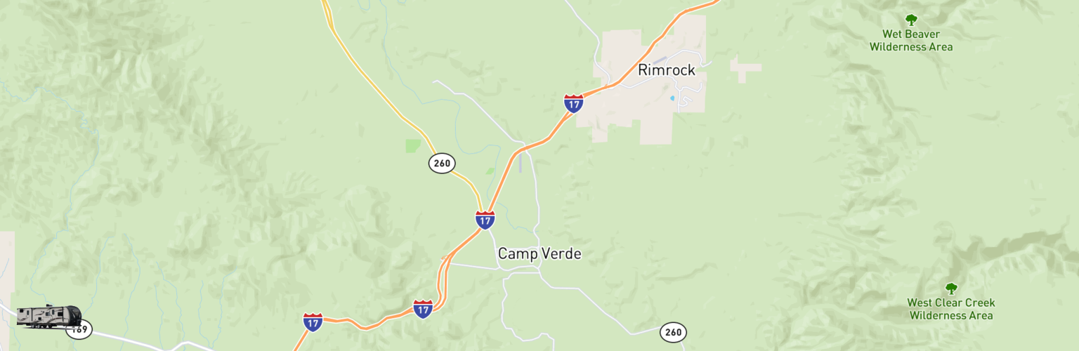 Travel Trailer Rentals Map Camp Verde, AZ