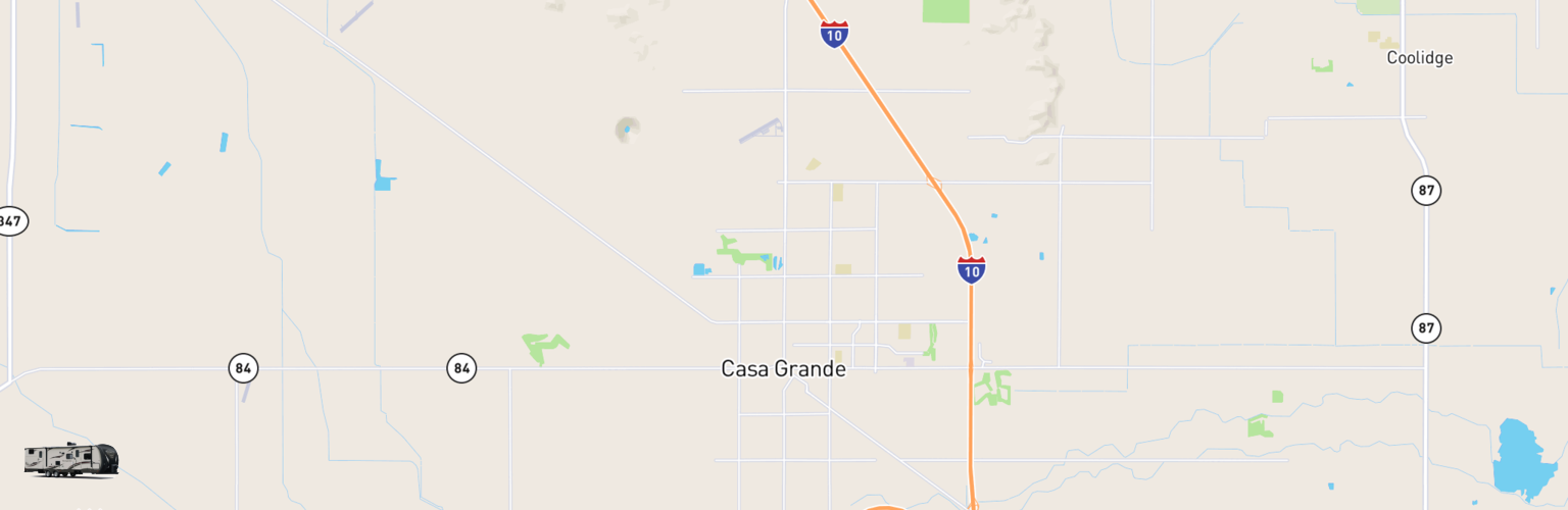 Travel Trailer Rentals Map Casa Grande, AZ