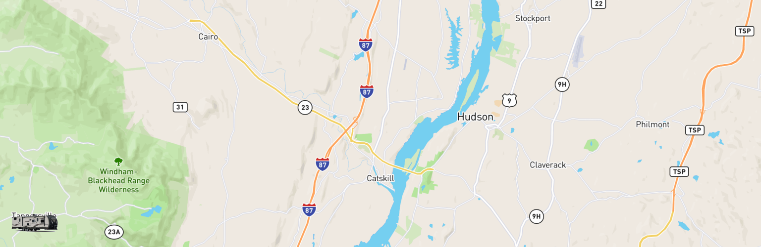 Travel Trailer Rentals Map Catskill, NY