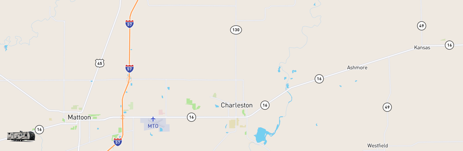 Travel Trailer Rentals Map Charleston Mattoon, IL