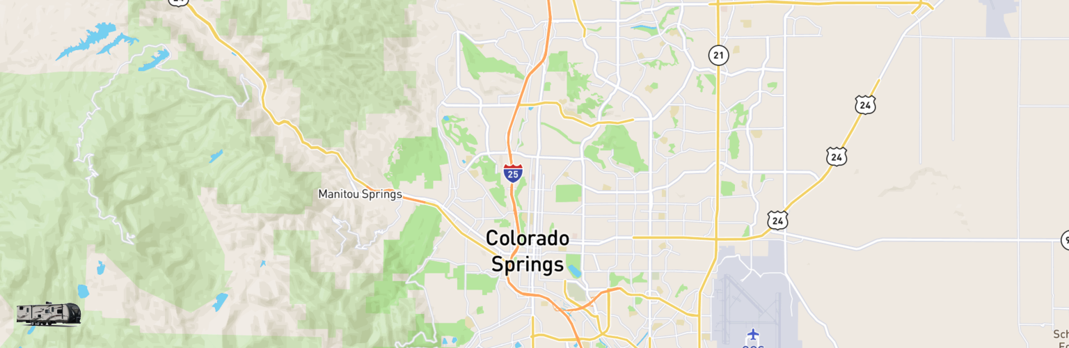 Travel Trailer Rentals Map Colorado Springs, CO