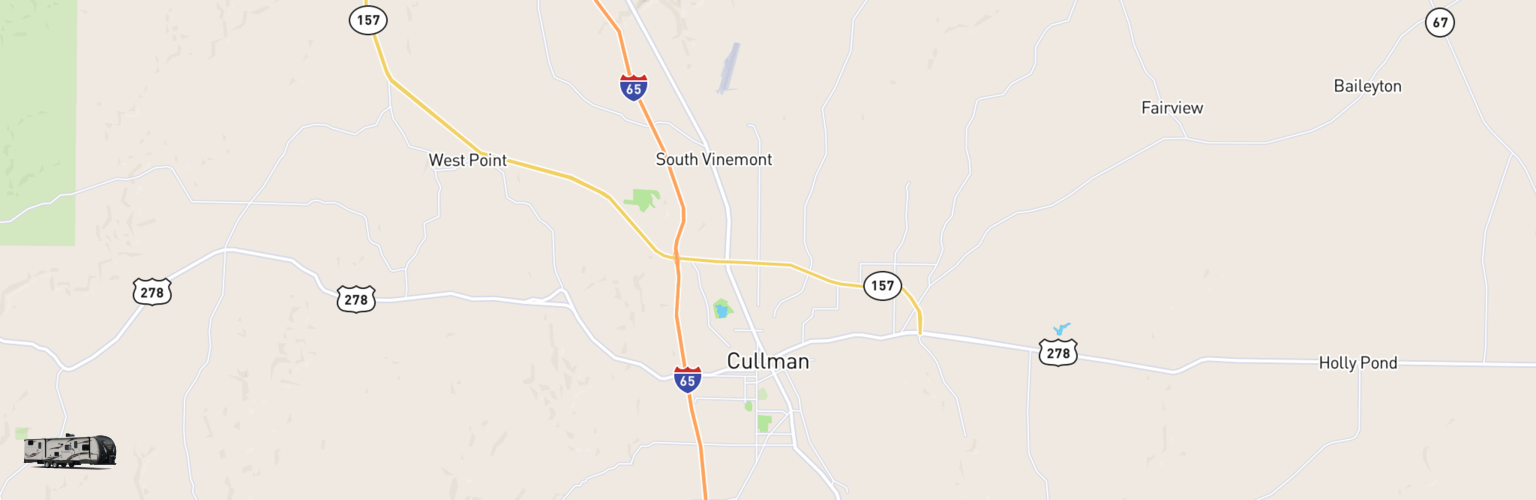 Travel Trailer Rentals Map Cullman, AL