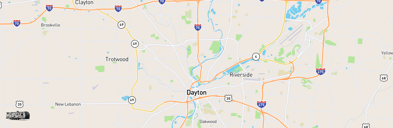 Travel Trailer Rentals Map Dayton, OH