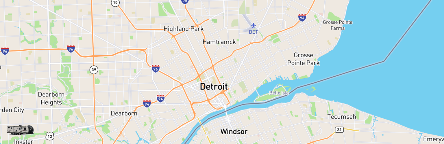 Travel Trailer Rentals Map Detroit, MI