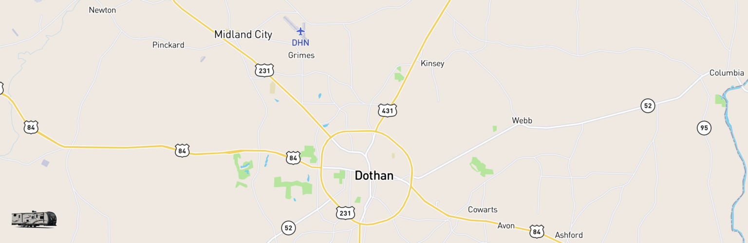 Travel Trailer Rentals Map Dothan, AL