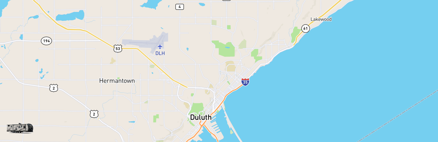 Travel Trailer Rentals Map Duluth, MN