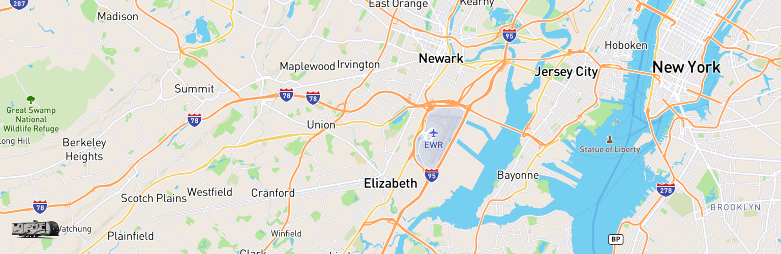 Travel Trailer Rentals Map Elizabeth, NJ