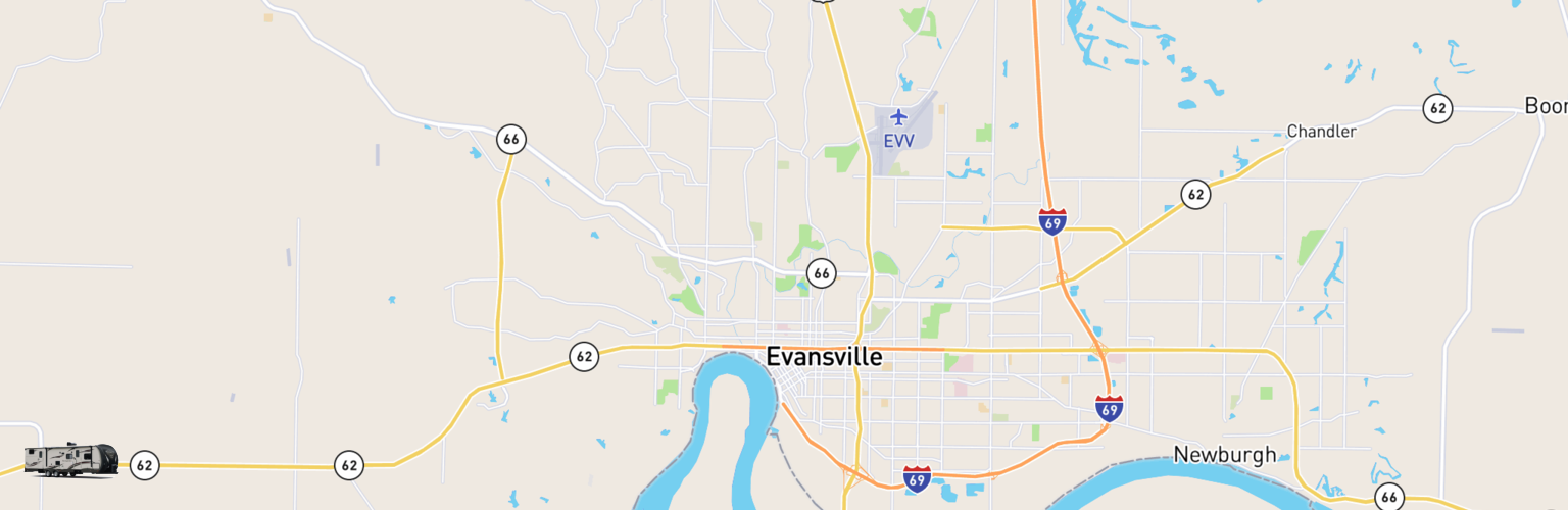 Travel Trailer Rentals Map Evansville, IN