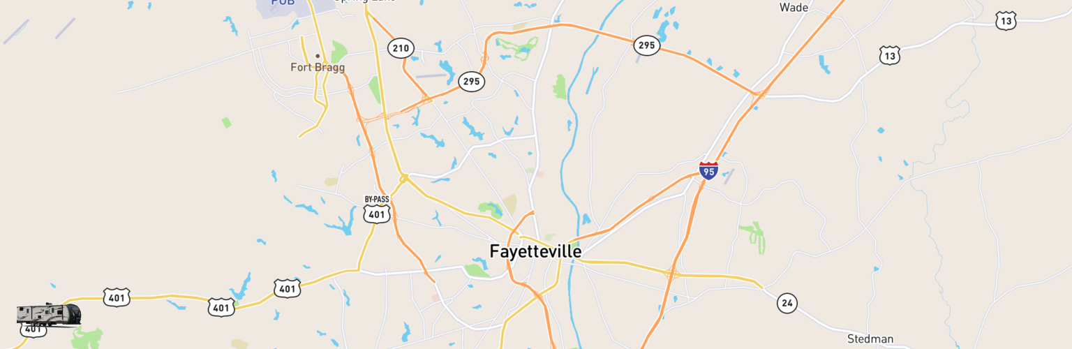 Travel Trailer Rentals Map Fayetteville, NC