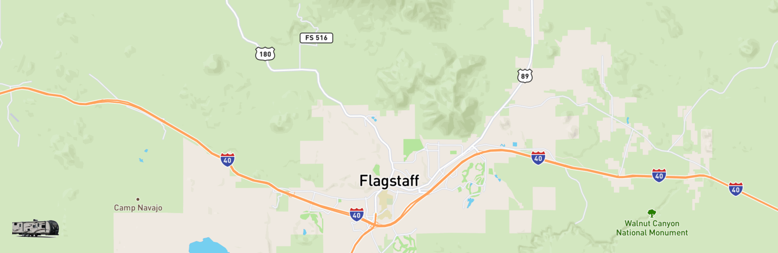 Travel Trailer Rentals Map Flagstaff, AZ