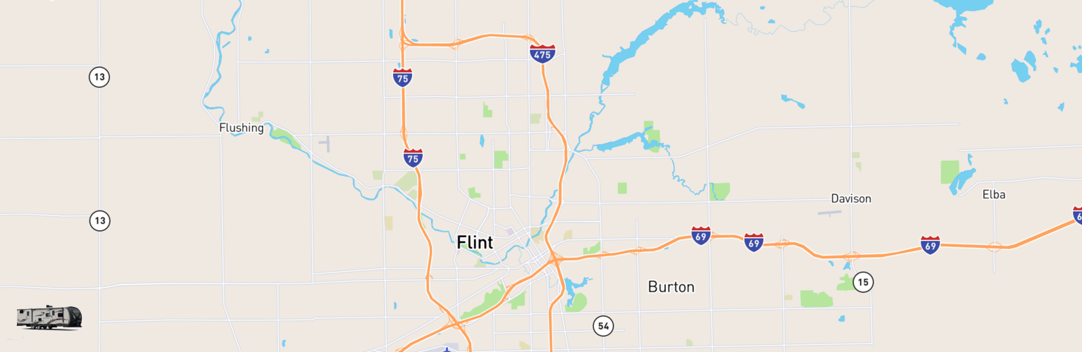 Travel Trailer Rentals Map Flint, MI