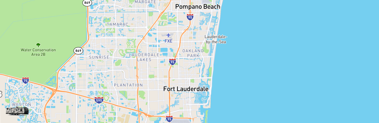 Travel Trailer Rentals Map Fort Lauderdale, FL