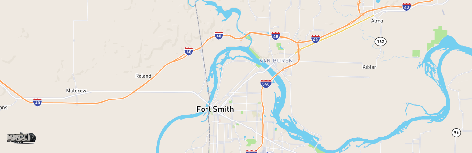 Travel Trailer Rentals Map Fort Smith, AR