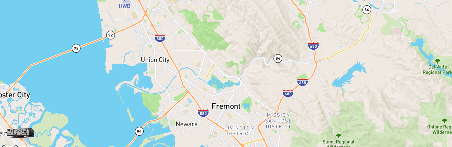 Travel Trailer Rentals Map Fremont, CA