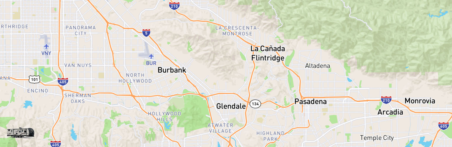 Travel Trailer Rentals Map Glendale, CA