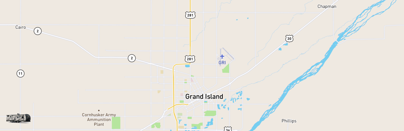 Travel Trailer Rentals Map Grand Island, NE