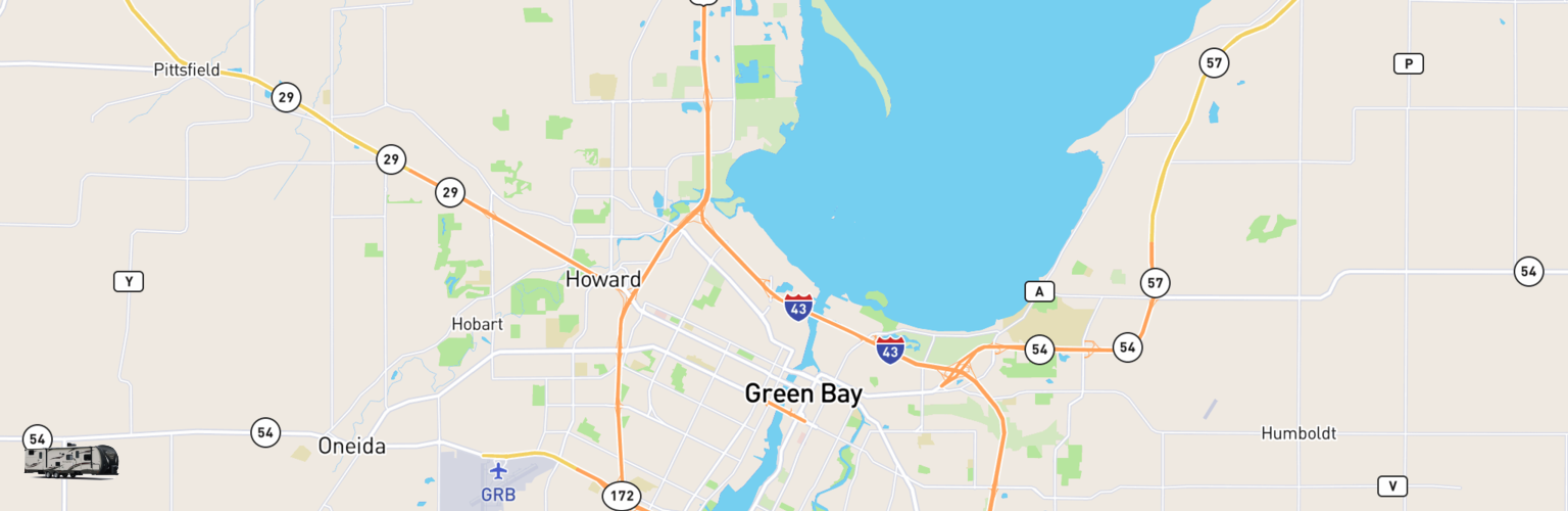 Travel Trailer Rentals Map Green Bay, WI