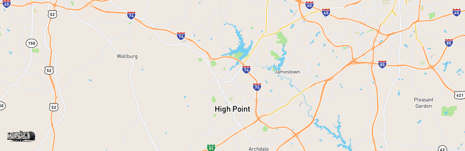 Travel Trailer Rentals Map High Point, NC