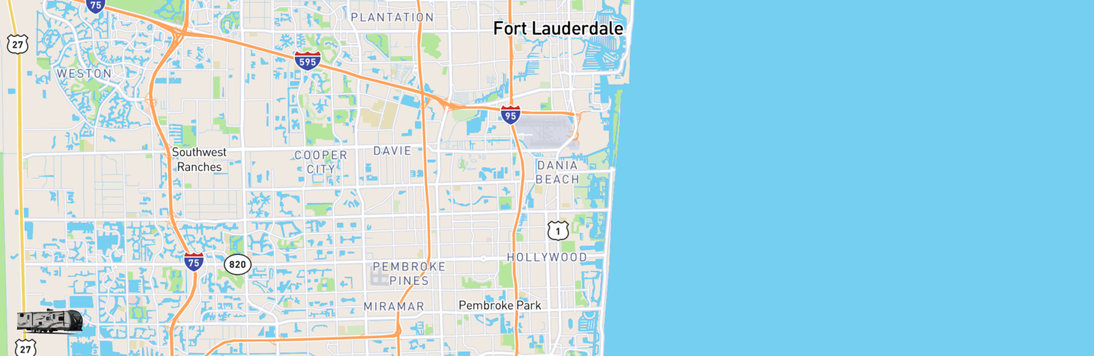 Travel Trailer Rentals Map Hollywood, FL