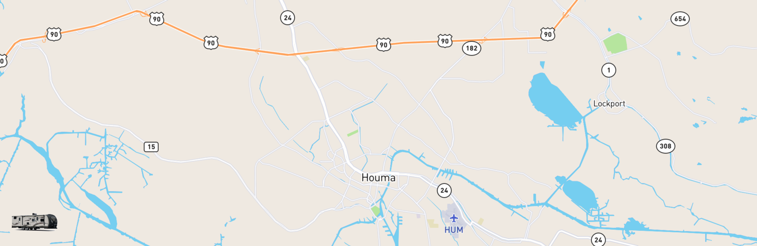 Travel Trailer Rentals Map Houma, LA