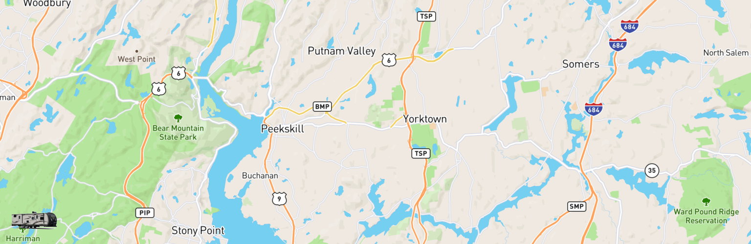 Travel Trailer Rentals Map Hudson Valley, NY
