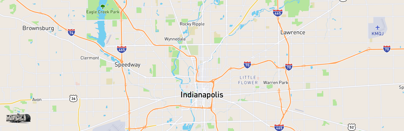 Travel Trailer Rentals Map Indianapolis, IN