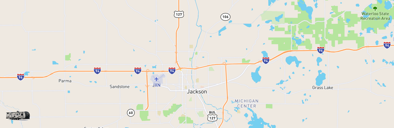 Travel Trailer Rentals Map Jackson, MI