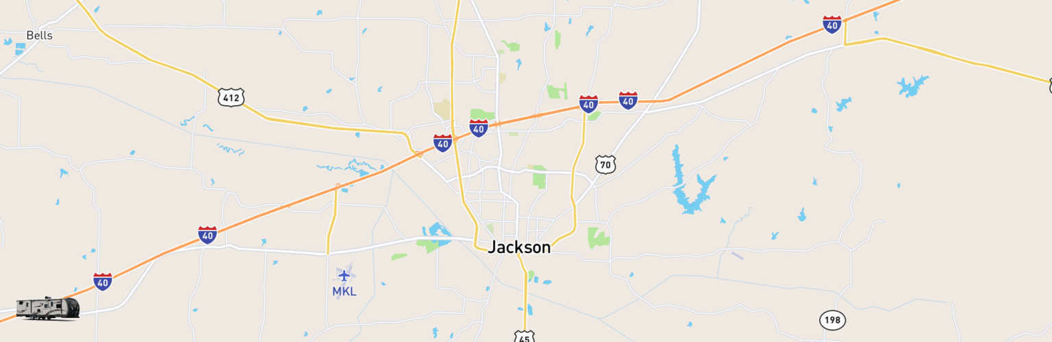 Travel Trailer Rentals Map Jackson, TN