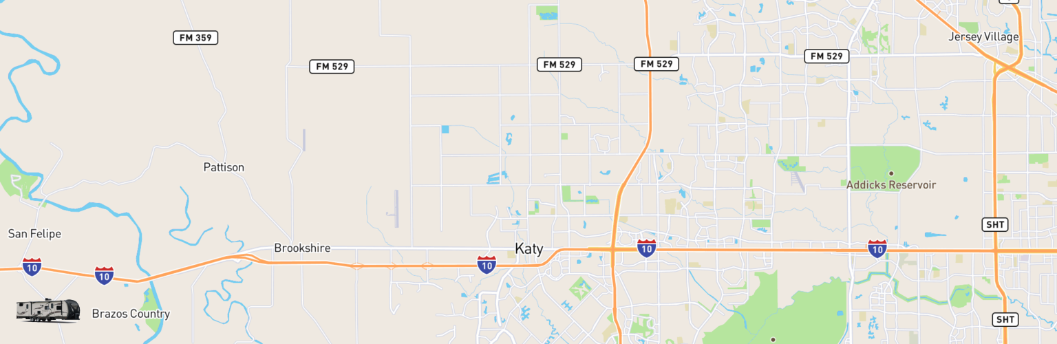 Travel Trailer Rentals Map Katy, TX