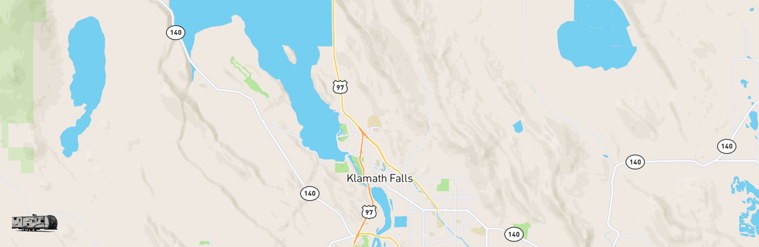 Travel Trailer Rentals Map Klamath Falls, OR