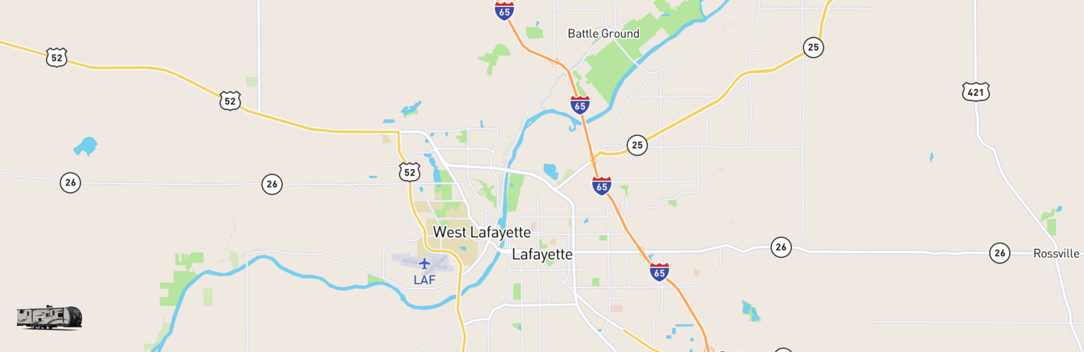 Travel Trailer Rentals Map Lafayette, IN