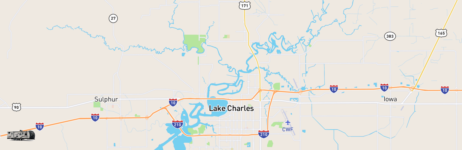 Travel Trailer Rentals Map Lake Charles, LA