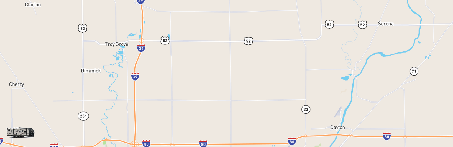 Travel Trailer Rentals Map Lasalle County, IL
