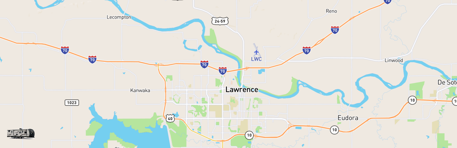 Travel Trailer Rentals Map Lawrence, KS