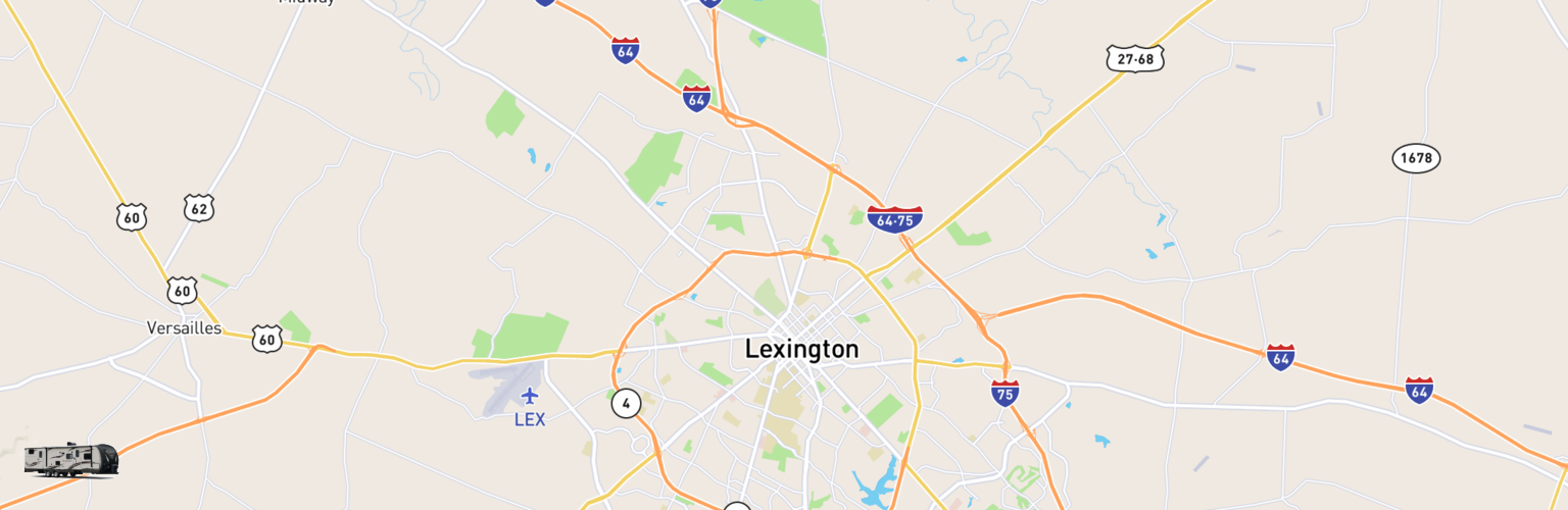 Travel Trailer Rentals Map Lexington, KY