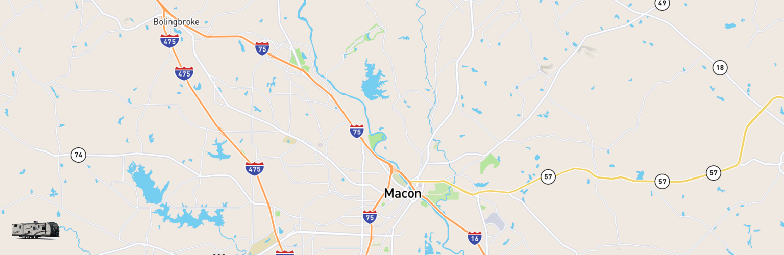 Travel Trailer Rentals Map Macon Warner Robins, GA