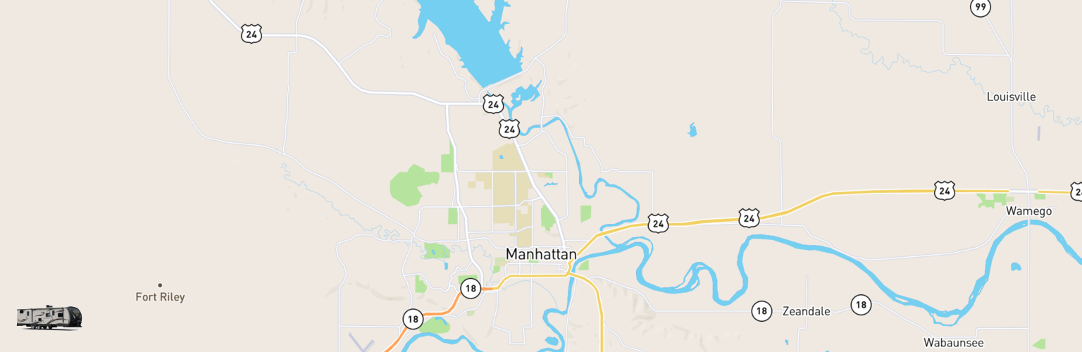 Travel Trailer Rentals Map Manhattan, KS