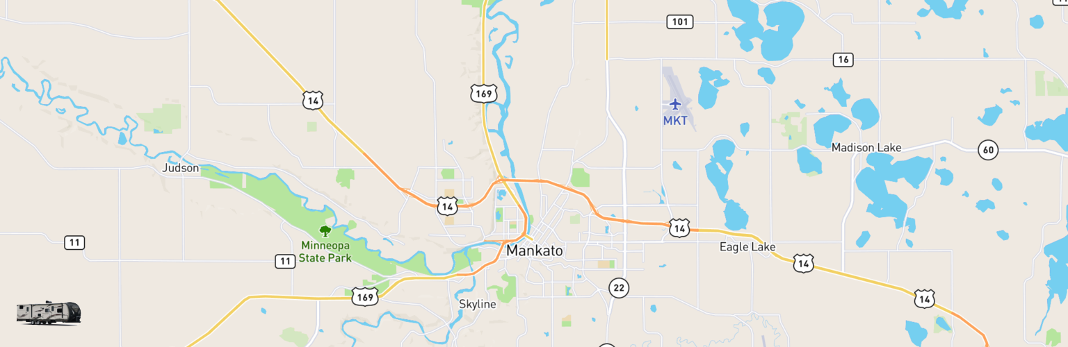 Travel Trailer Rentals Map Mankato, MN