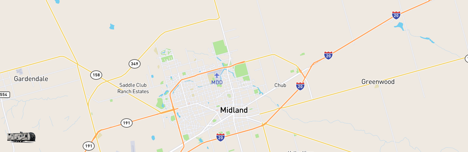 Travel Trailer Rentals Map Midland, TX