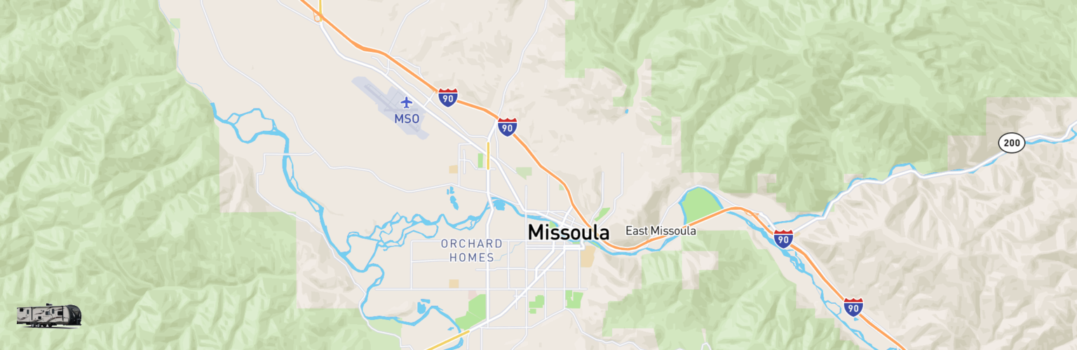 Travel Trailer Rentals Map Missoula, MT