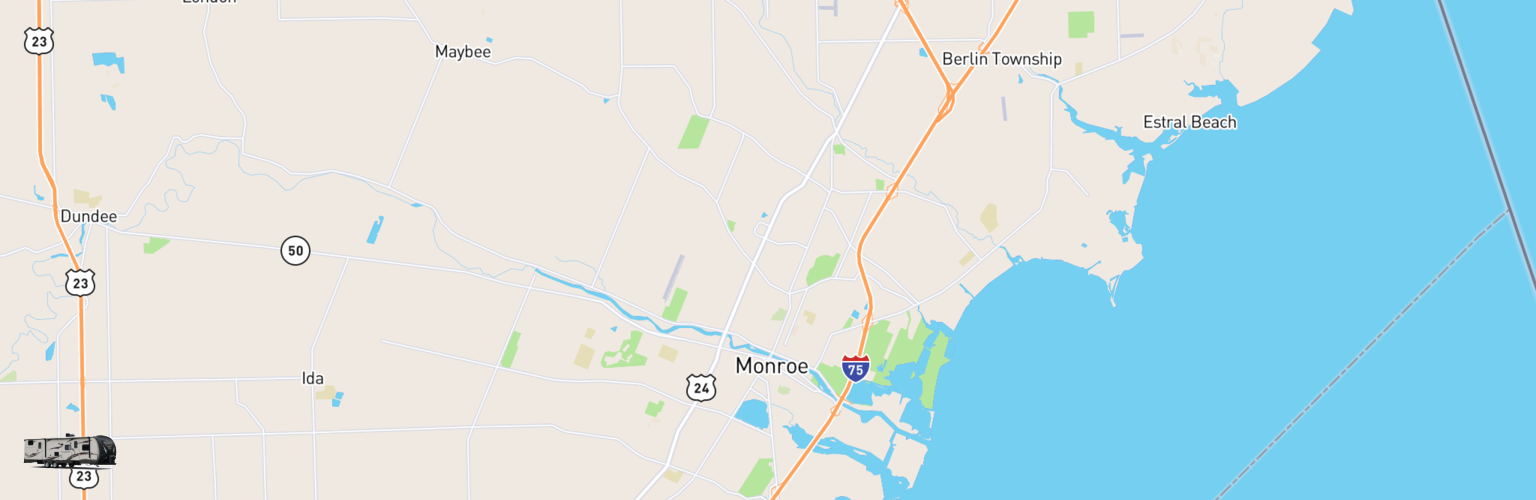 Travel Trailer Rentals Map Monroe, MI