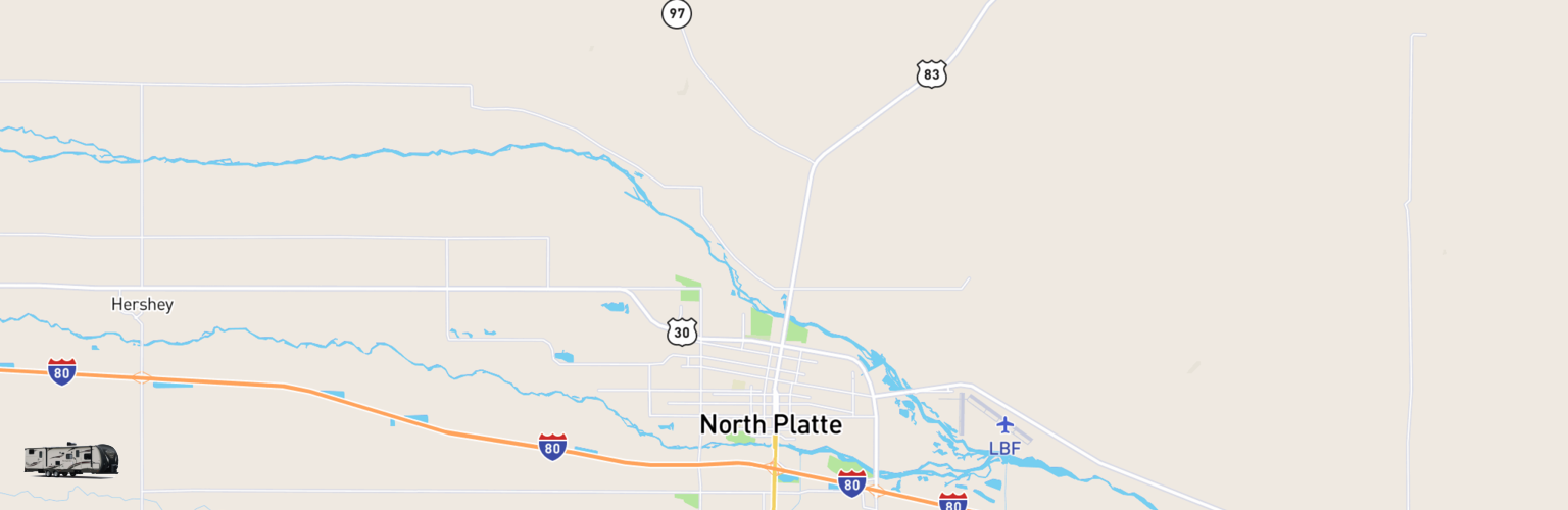 Travel Trailer Rentals Map North Platte, NE