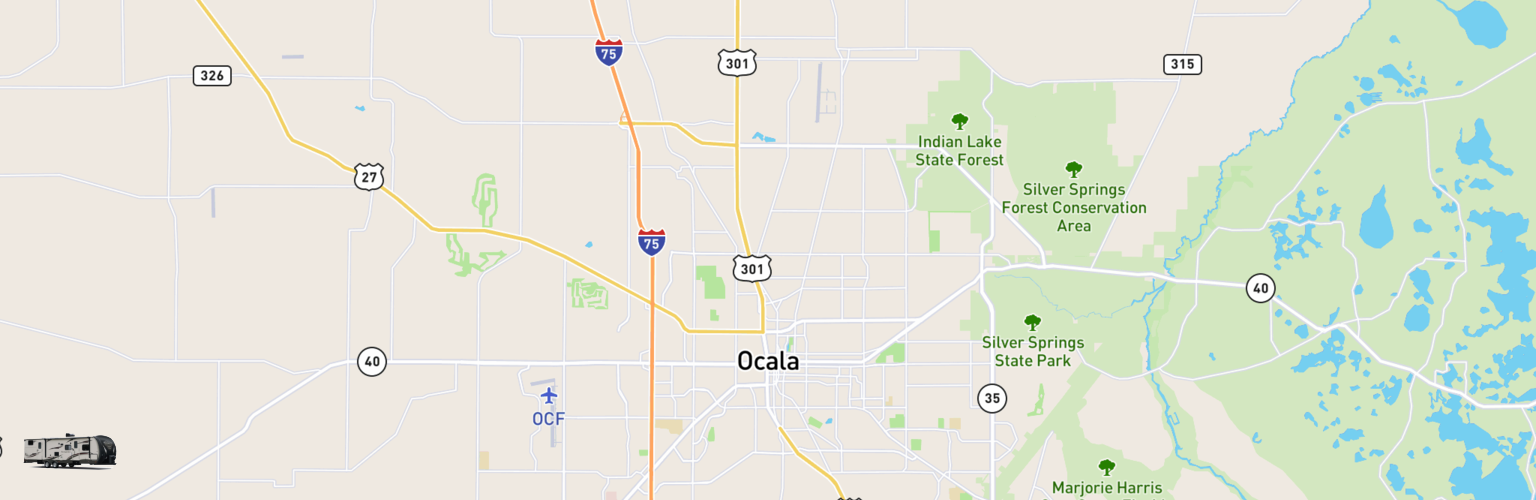Travel Trailer Rentals Map Ocala, FL