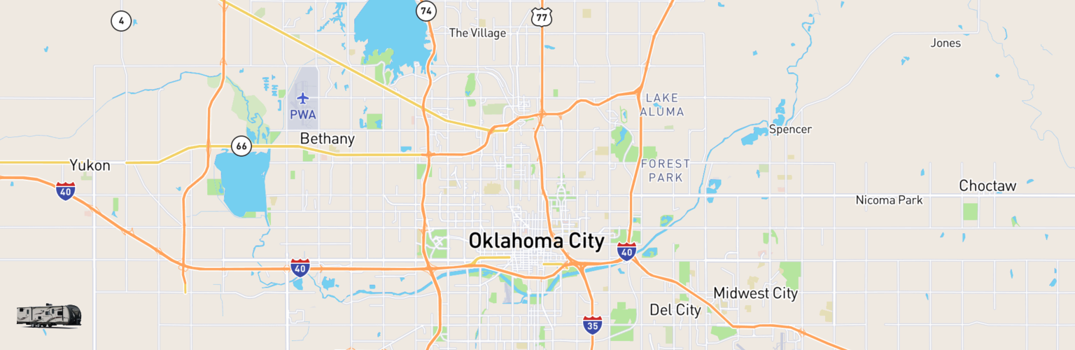 Travel Trailer Rentals Map Oklahoma City, OK