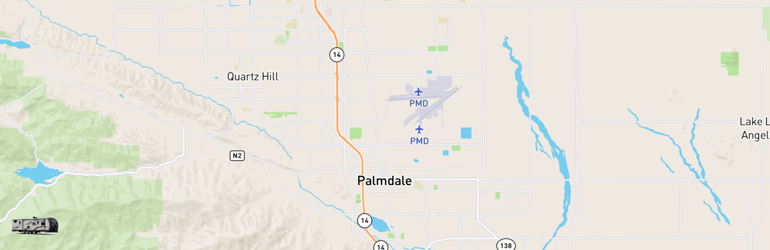 Travel Trailer Rentals Map Palmdale, CA