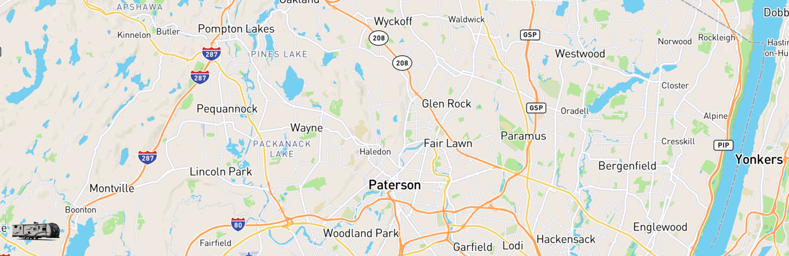 Travel Trailer Rentals Map Paterson, NJ