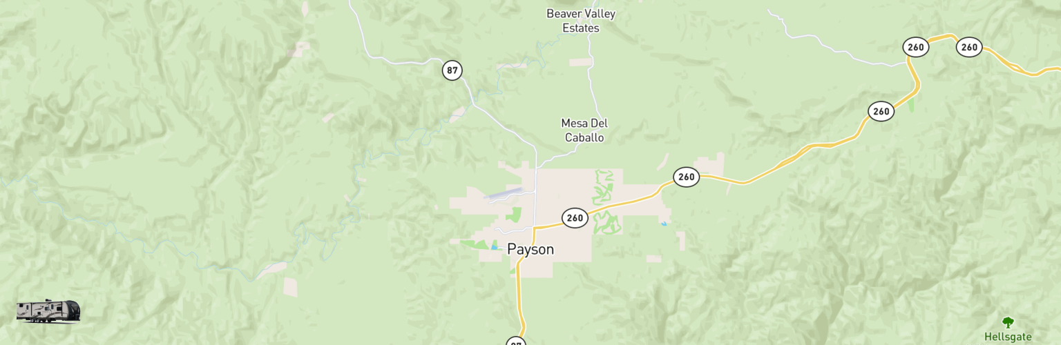 Travel Trailer Rentals Map Payson, AZ