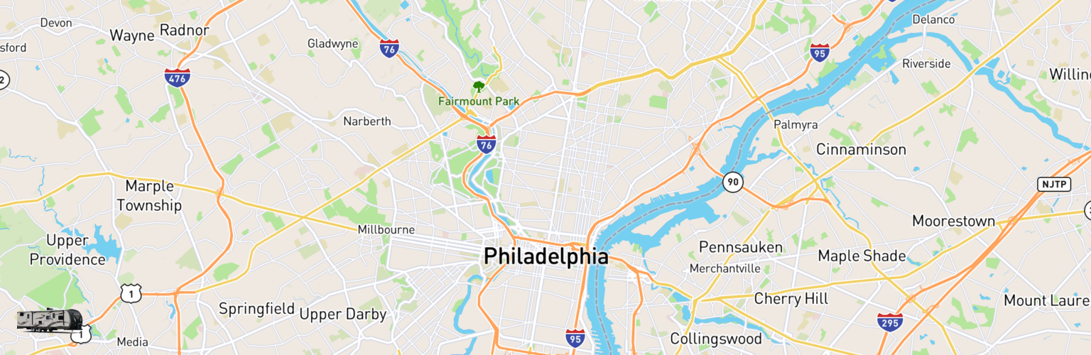 Travel Trailer Rentals Map Philadelphia, PA