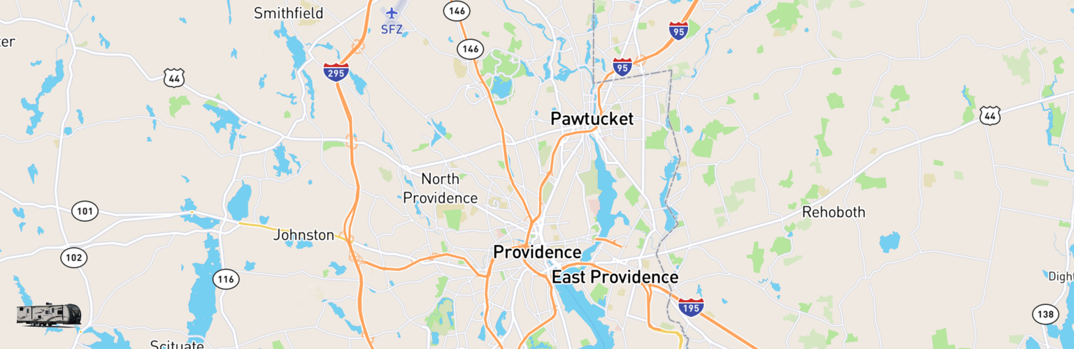 Travel Trailer Rentals Map Providence, RI