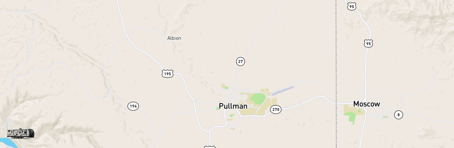 Travel Trailer Rentals Map Pullman Moscow, WA